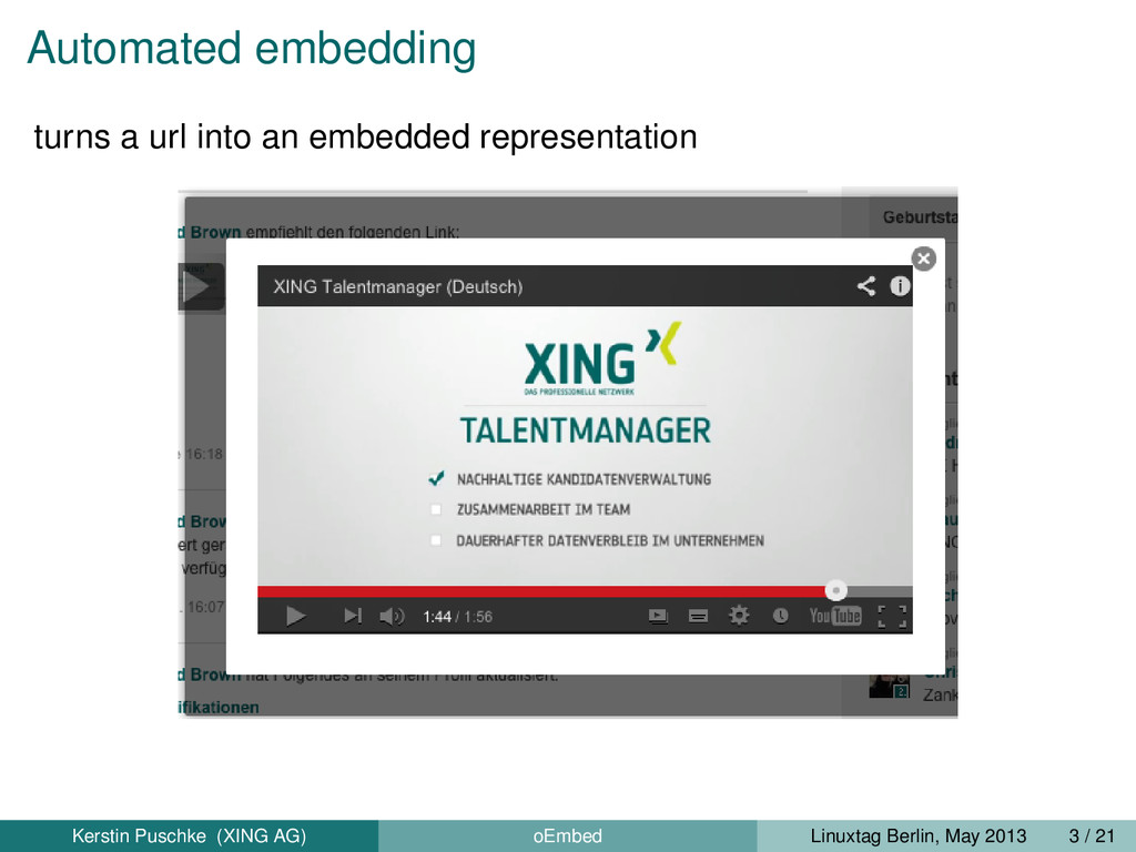 Automated embedding turns a url into an embedde...