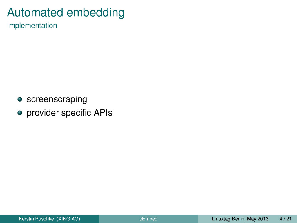 Automated embedding Implementation screenscrapi...