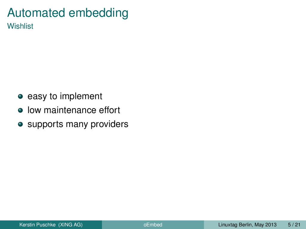 Automated embedding Wishlist easy to implement ...