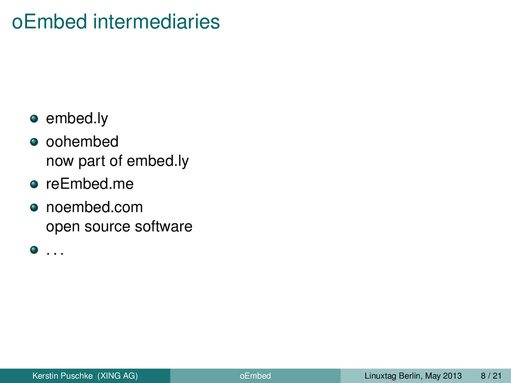 oEmbed intermediaries embed.ly oohembed now par...