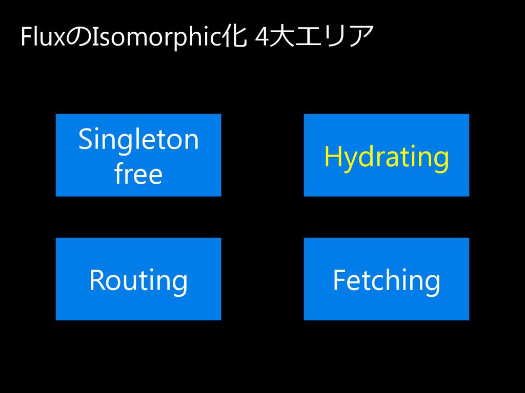 Fluxの Isomorphic化 4大エ リ ア Singleton free Routin...