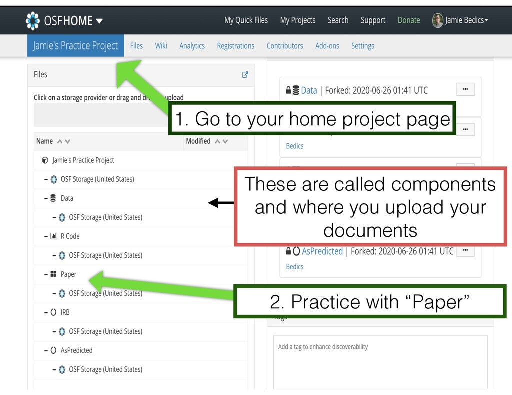 "2. Practice with ""Paper"" 1. Go to your home pro..."