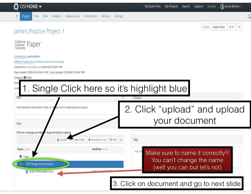1. Single Click here so it's highlight blue 2. ...