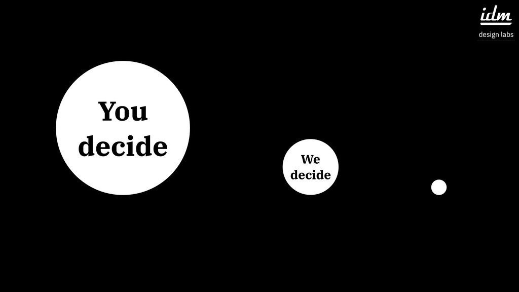 You decide We decide idm design labs