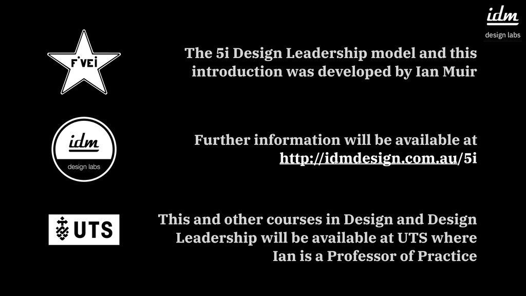The 5i Design Leadership model and this introdu...