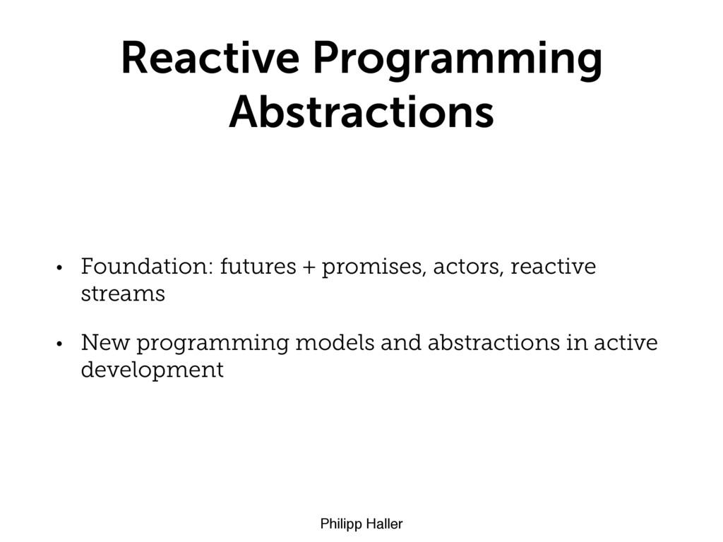 Philipp Haller Reactive Programming Abstraction...