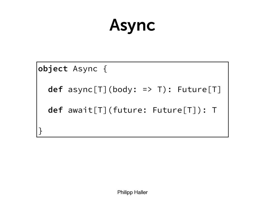 Philipp Haller Async object Async { def async[T...