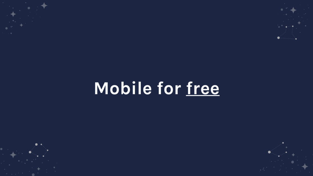 Mobile for free