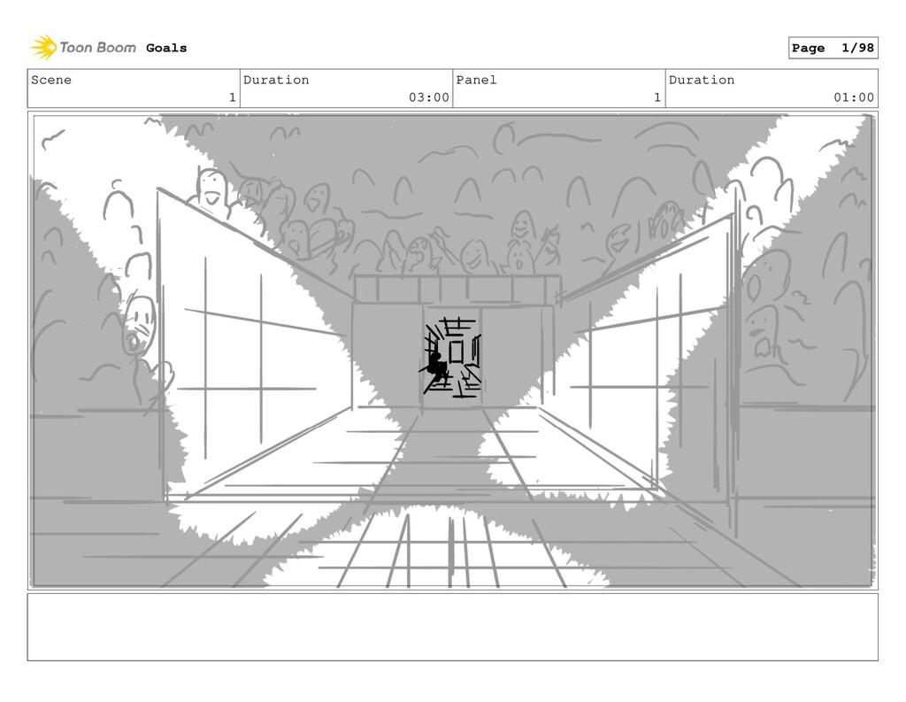 Scene 1 Duration 03:00 Panel 1 Duration 01:00 G...