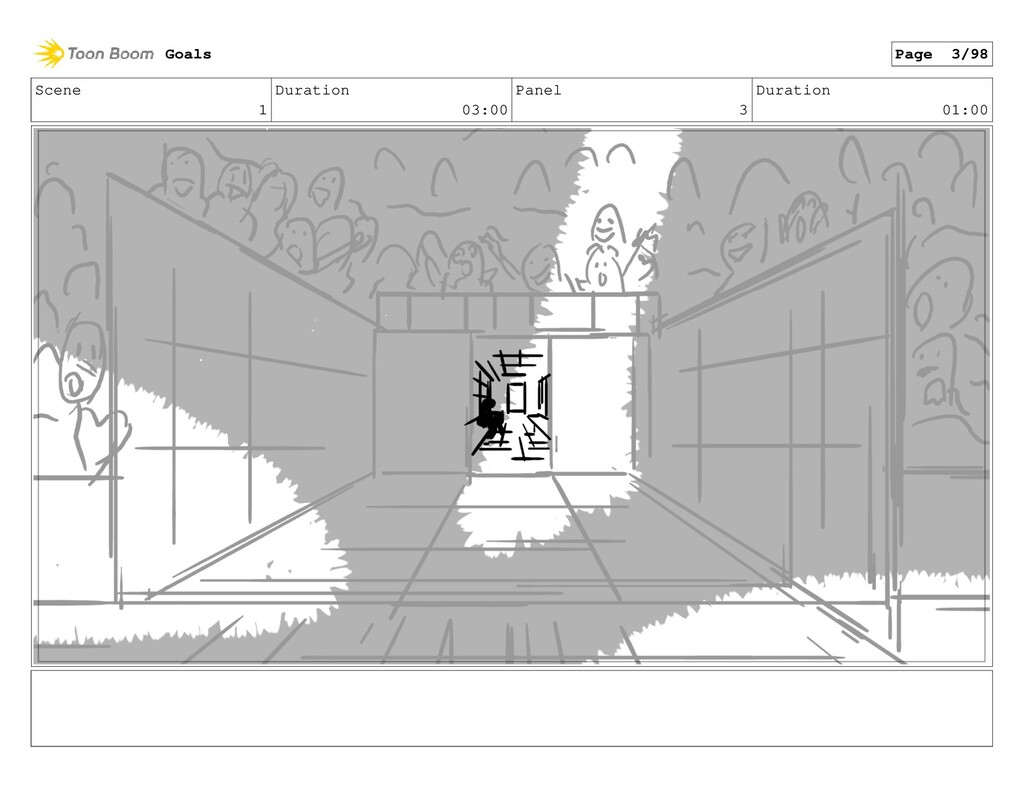 Scene 1 Duration 03:00 Panel 3 Duration 01:00 G...
