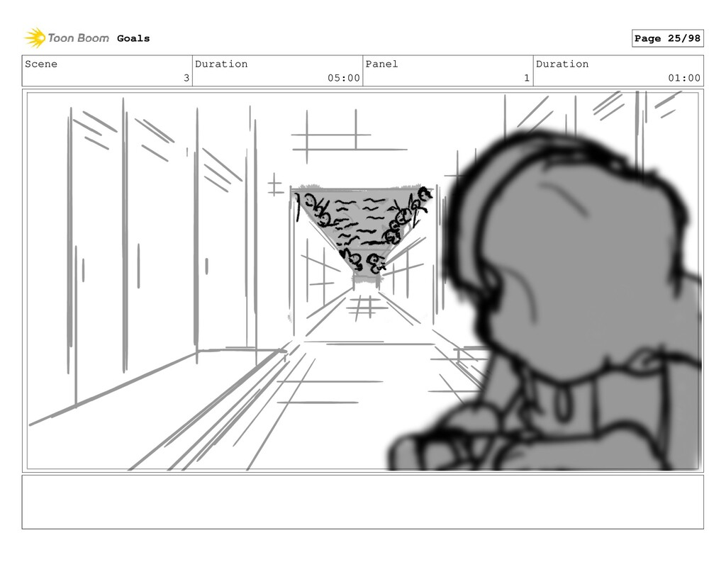 Scene 3 Duration 05:00 Panel 1 Duration 01:00 G...