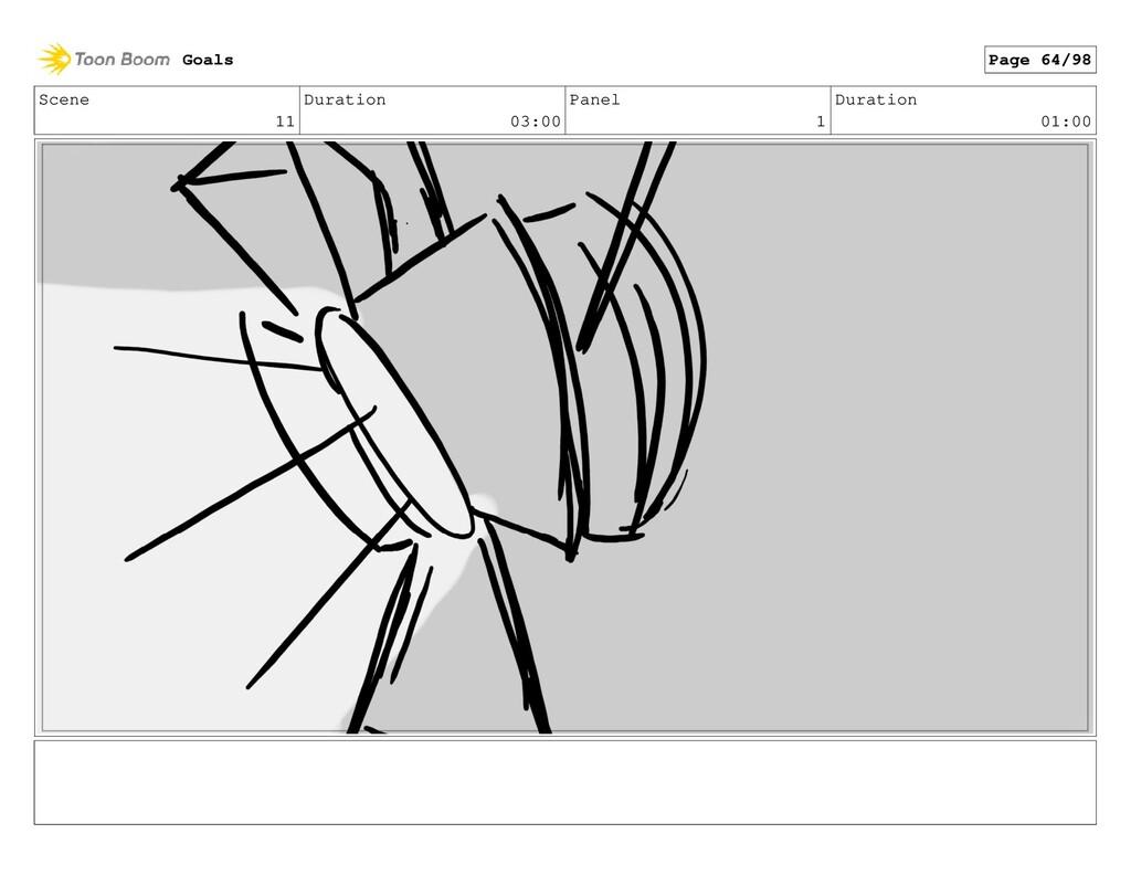 Scene 11 Duration 03:00 Panel 1 Duration 01:00 ...