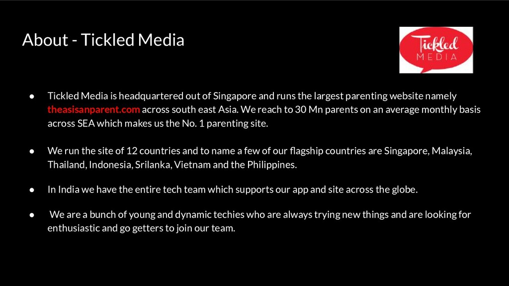 About - Tickled Media ● Tickled Media is headqu...