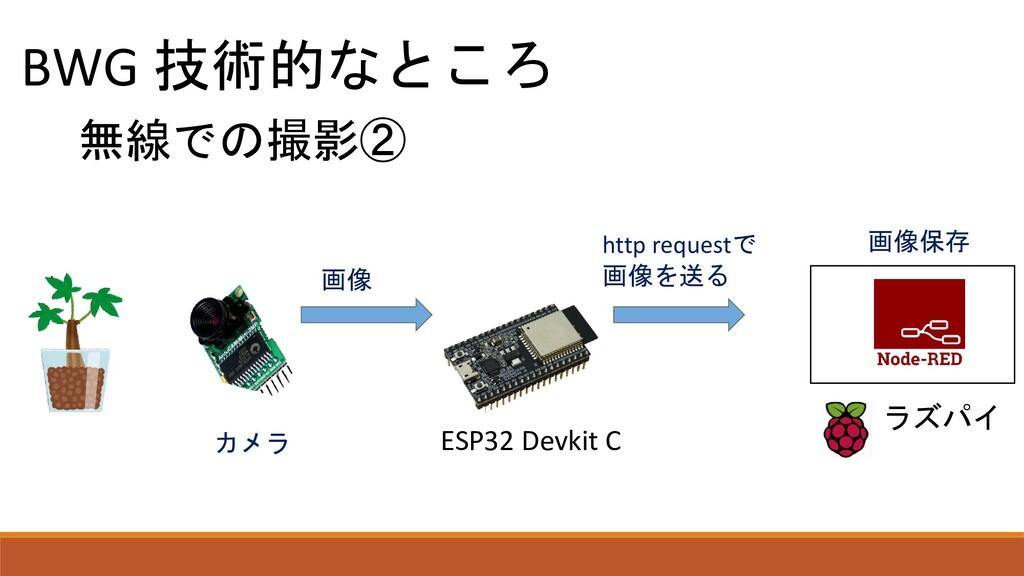 BWG 技術的なところ 無線での撮影② ラズパイ カメラ ESP32 Devkit C 画像 ...