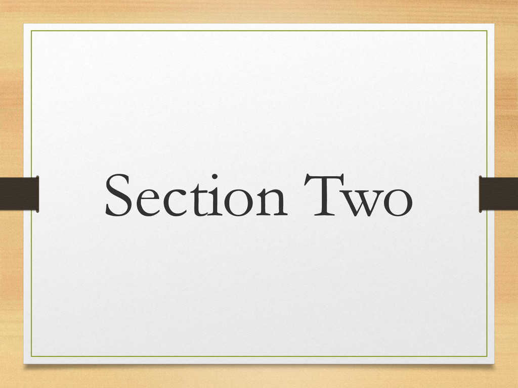 Section Two