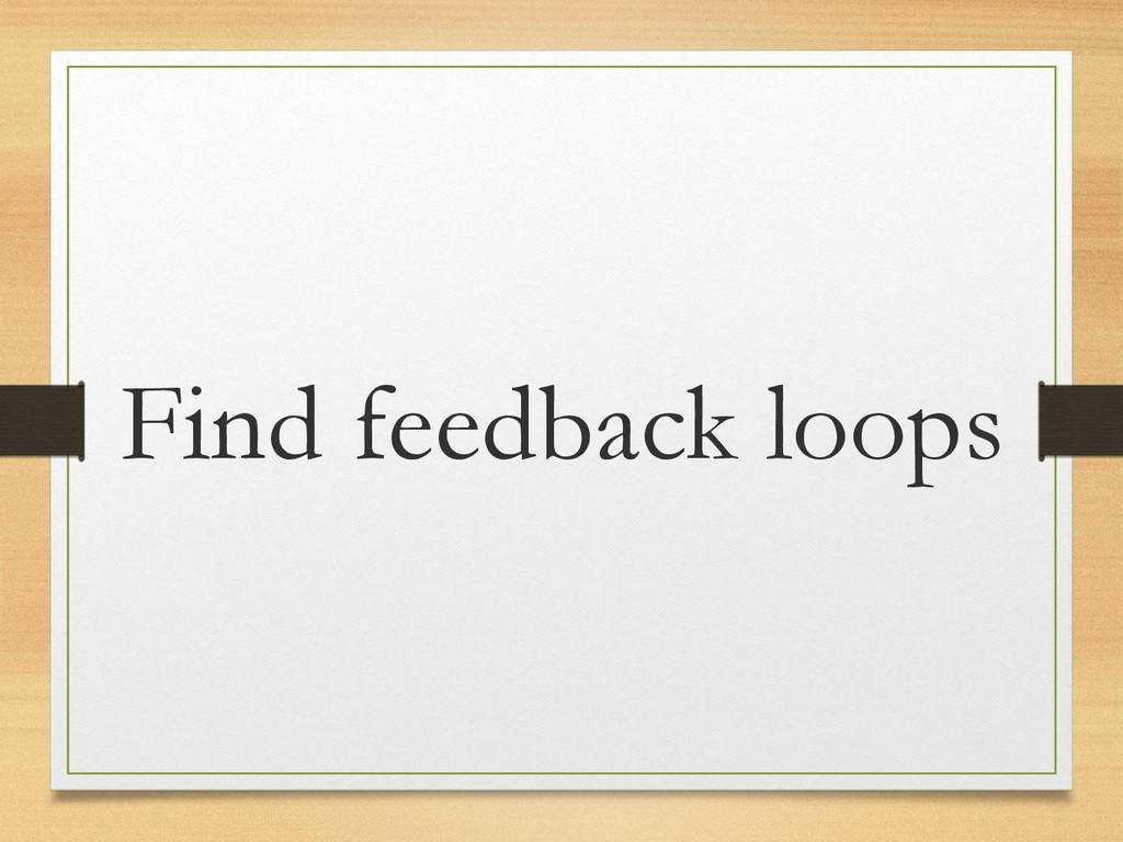 Find feedback loops