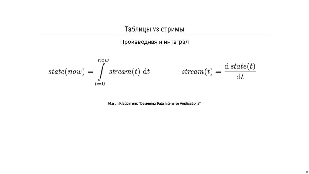 Таблицы vs стримы Производная и интеграл Martin...