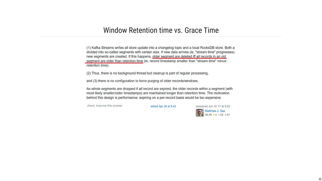 Window Retention time vs. Grace Time 80