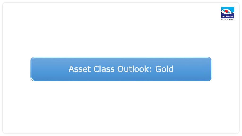 Asset Class Outlook: Gold