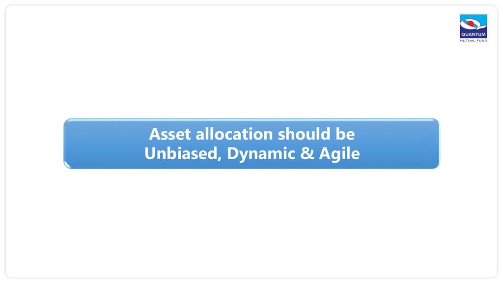 Asset allocation should be Unbiased, Dynamic & ...