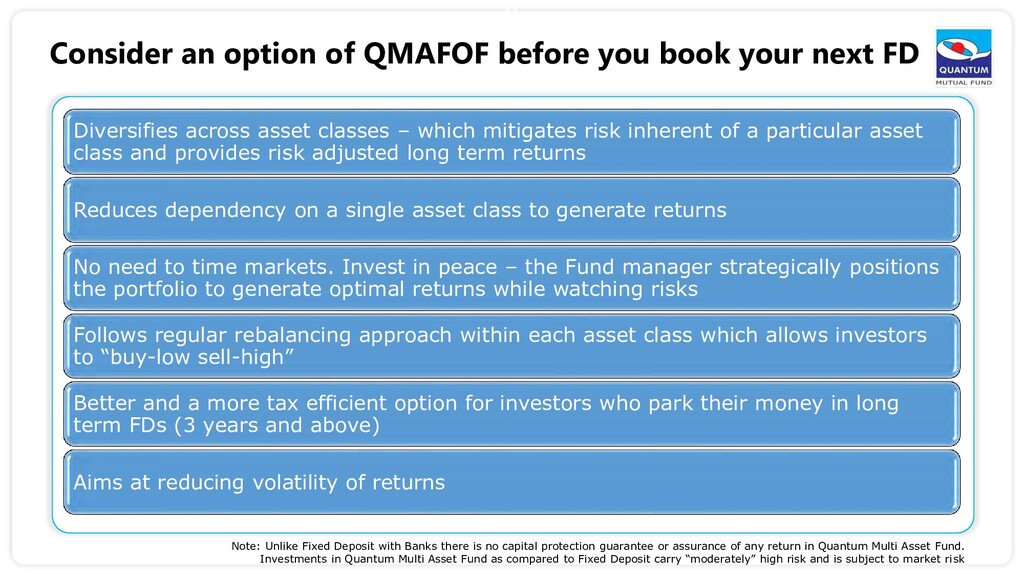 41 Consider an option of QMAFOF before you book...