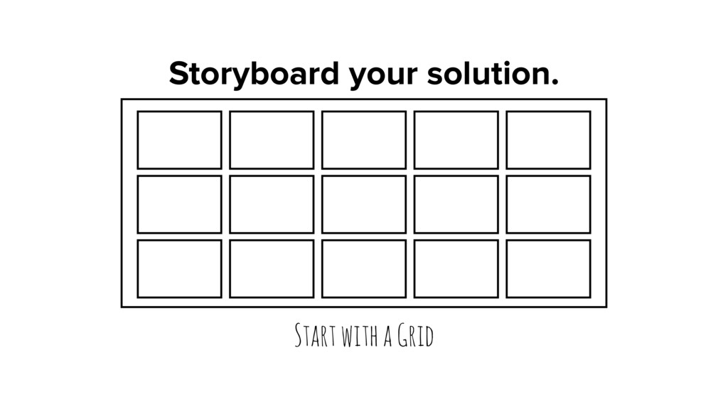 Storyboard your solution. Start with a Grid