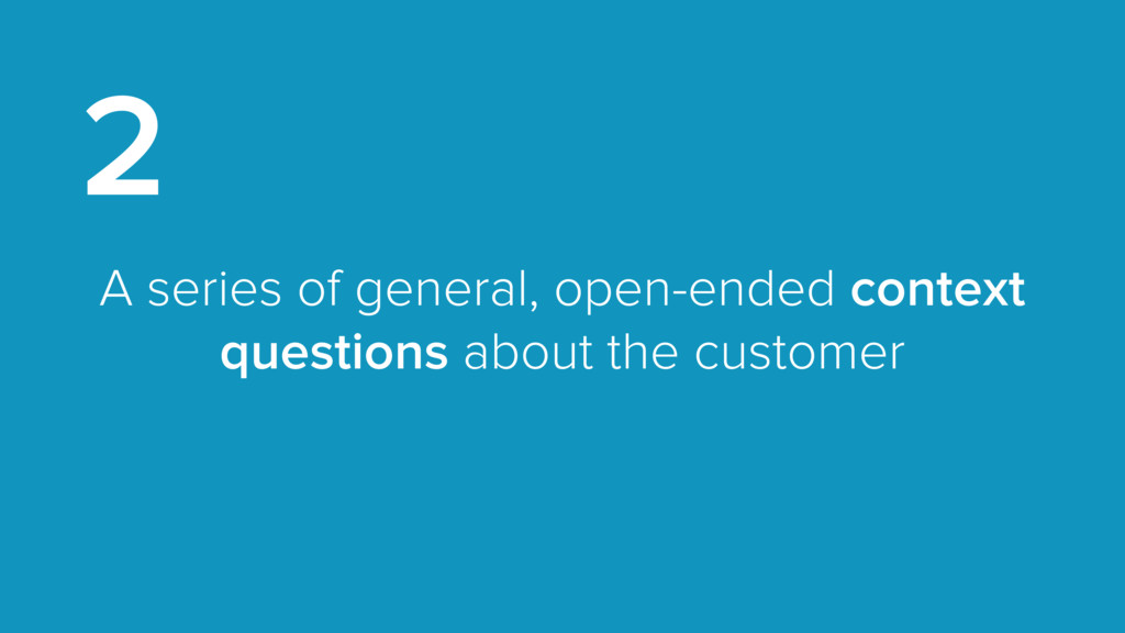 A series of general, open-ended context questio...