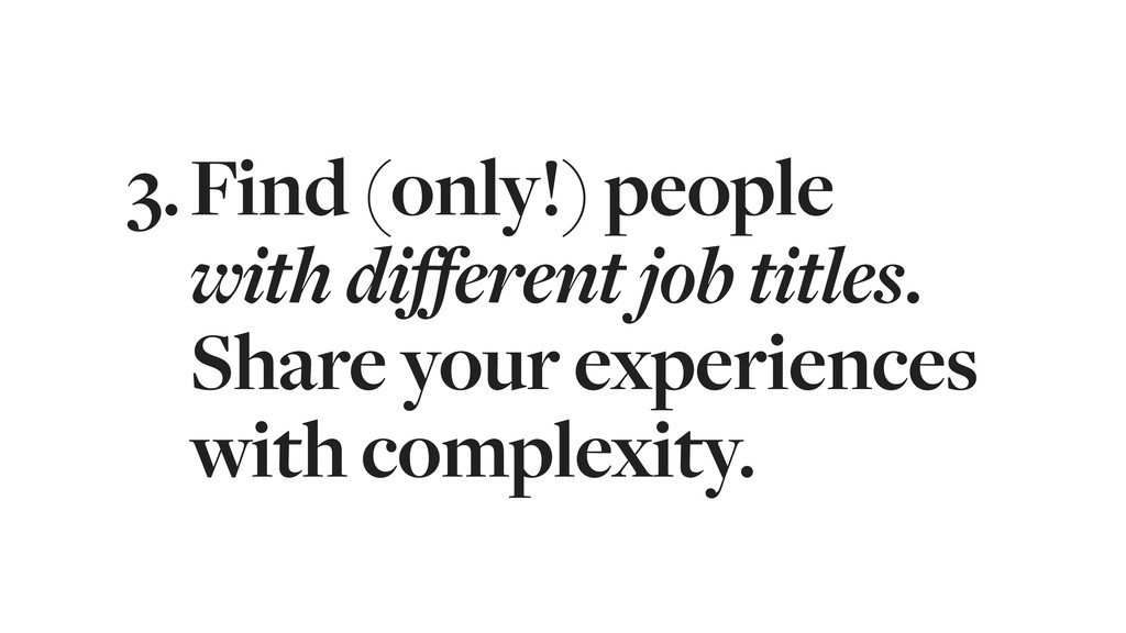 3.Find (only!) people 