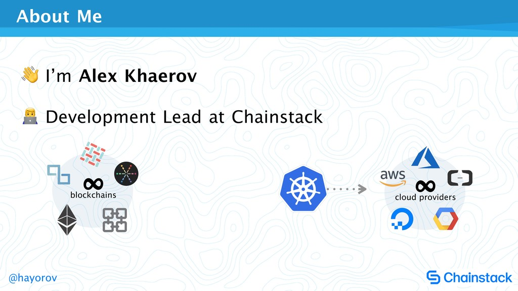 @hayorov  I'm Alex Khaerov  $ Development Lead ...