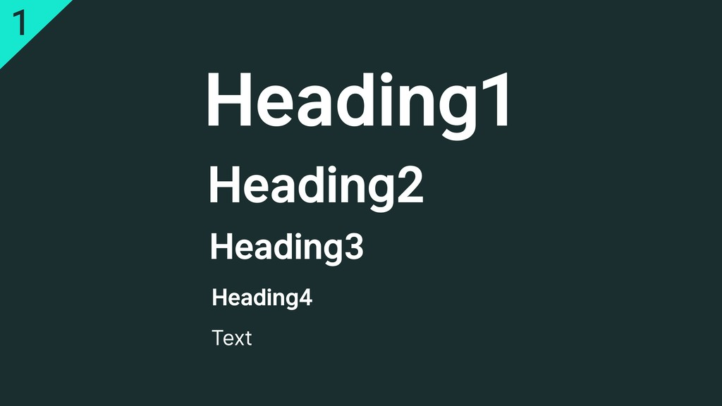 Heading1 Heading2 Heading3 Heading4 Text 1