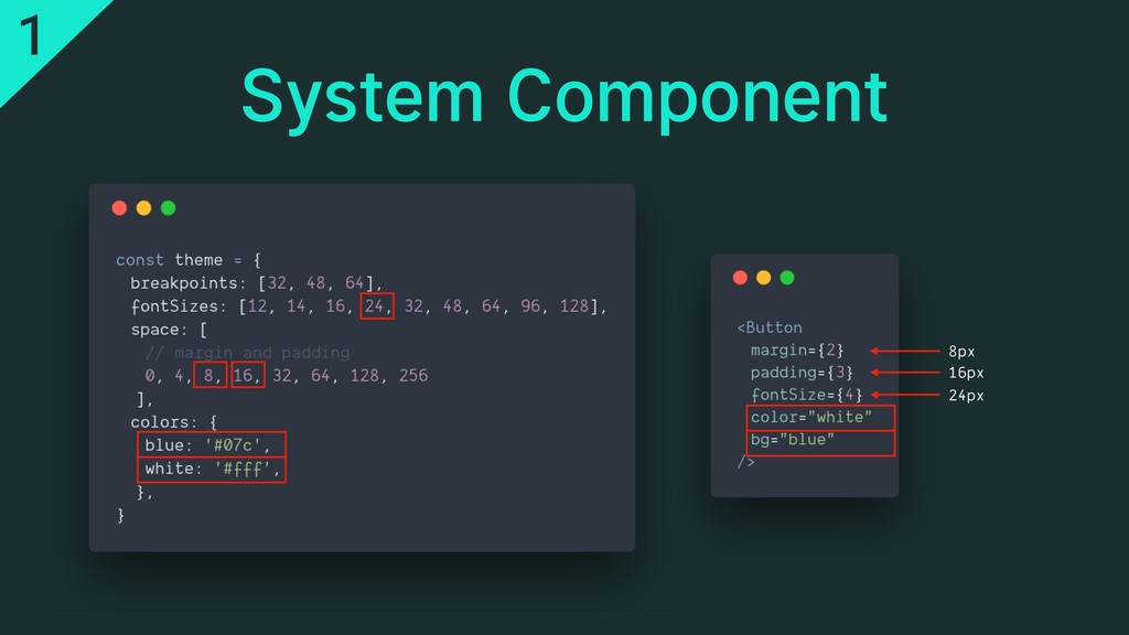 System Component 8px 16px 24px 1