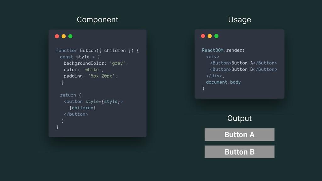 Component Usage Output Button A Button B