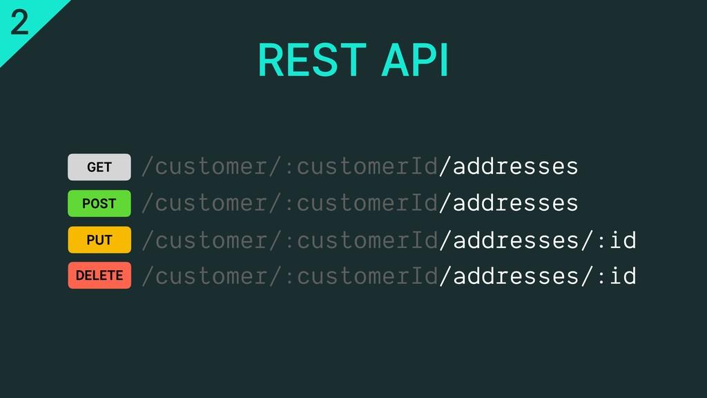 /customer/:customerId/addresses REST API GET PO...