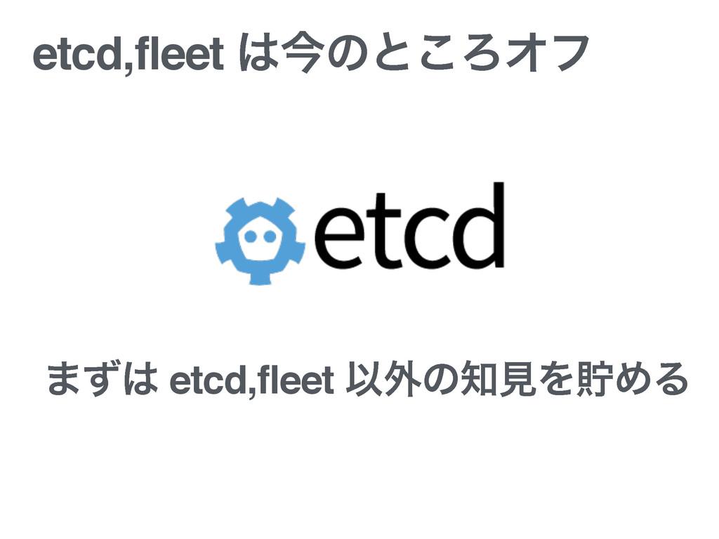 etcd,fleet ࠓͷͱ͜ΖΦϑ ·ͣ etcd,fleet Ҏ֎ͷݟΛஷΊΔ