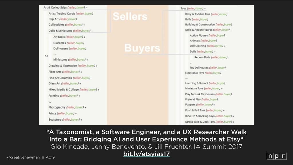 """@creativenewman #IAC19 """"A Taxonomist, a Softwar..."""