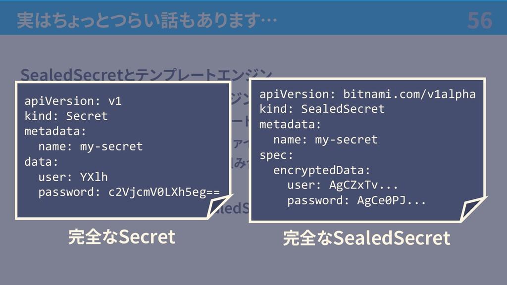 実はちょっとつらい話もあります… SealedSecretとテンプレートエンジン • GitO...