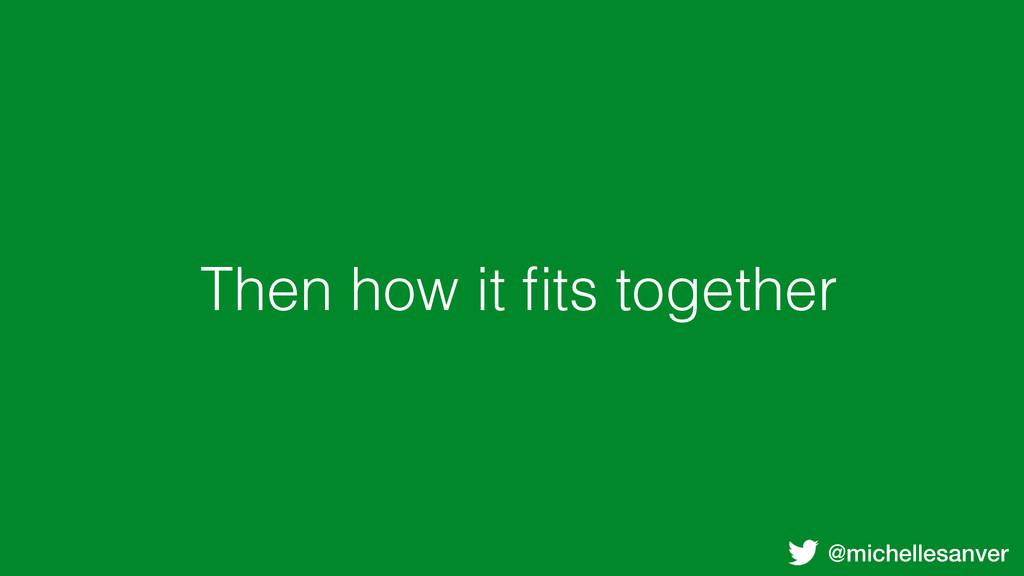 @michellesanver Then how it fits together
