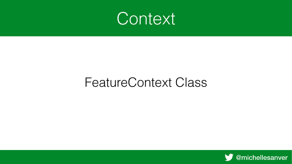 @michellesanver Context FeatureContext Class
