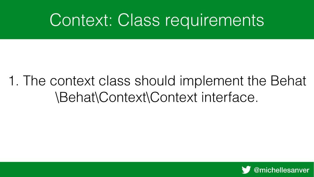 @michellesanver Context: Class requirements 1. ...