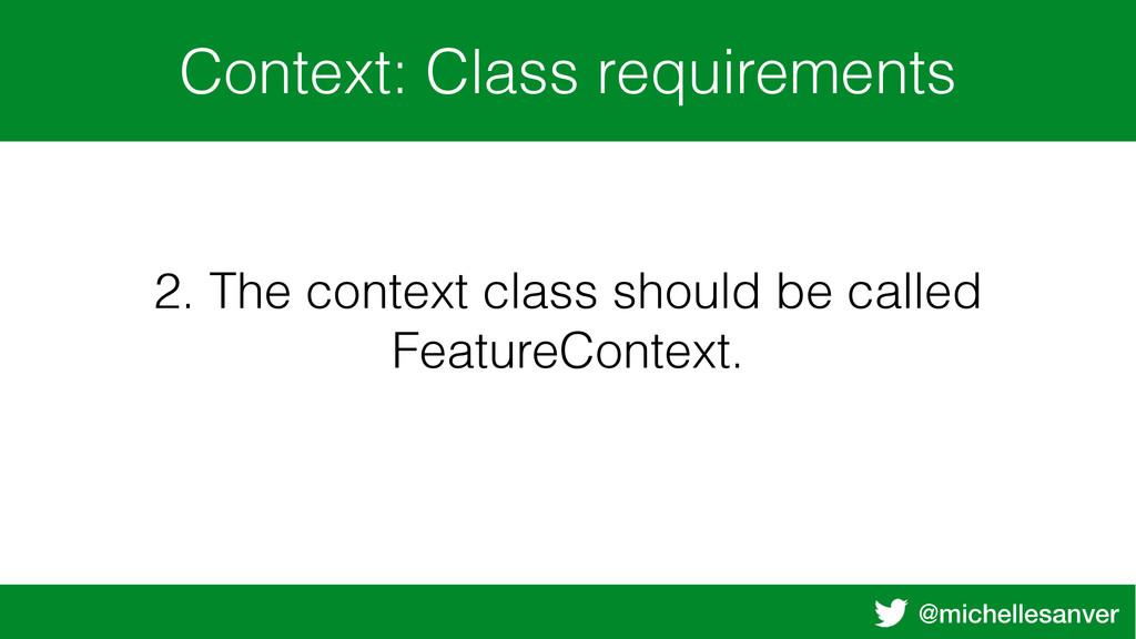@michellesanver Context: Class requirements 2. ...