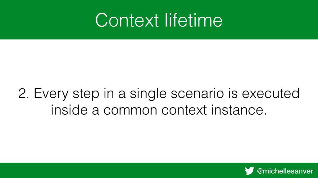 @michellesanver Context lifetime 2. Every step ...