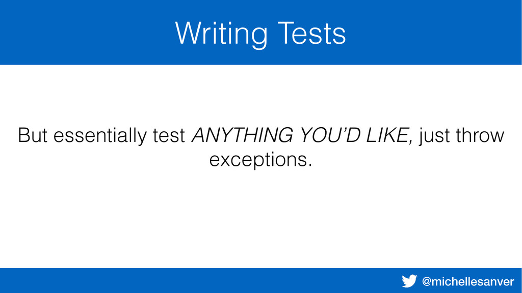 @michellesanver Writing Tests But essentially t...