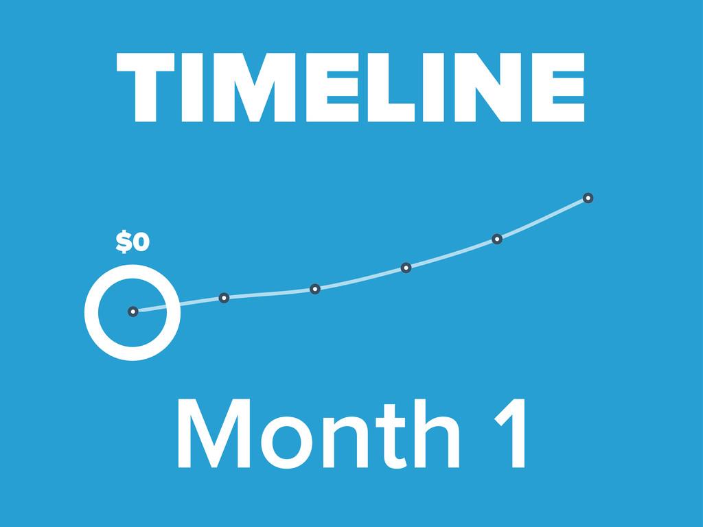 Month 1 TIMELINE $0