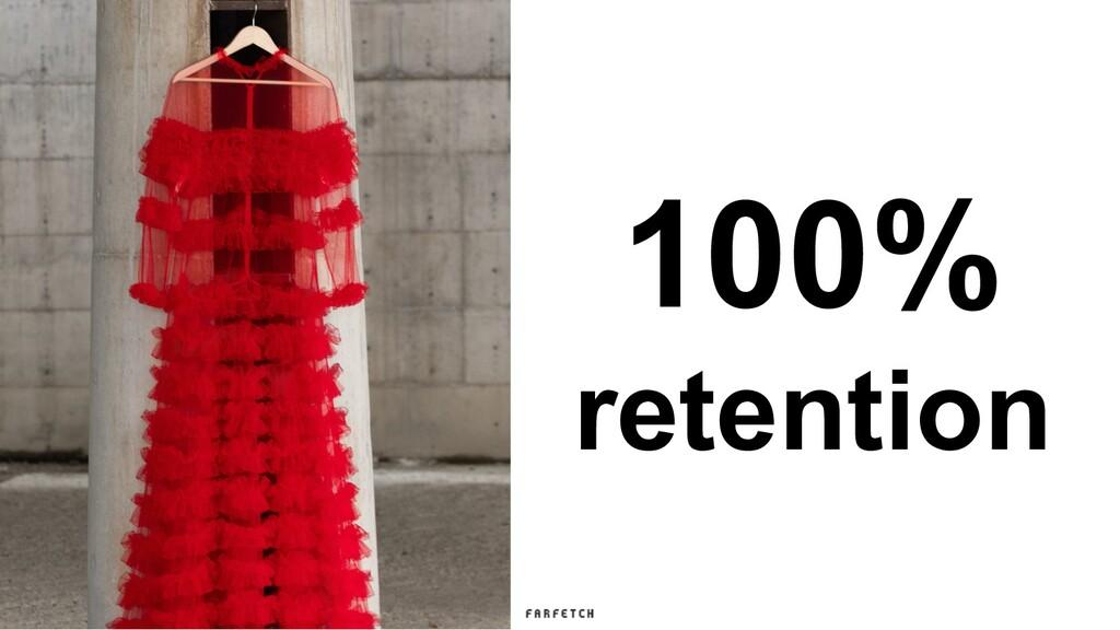 100% retention