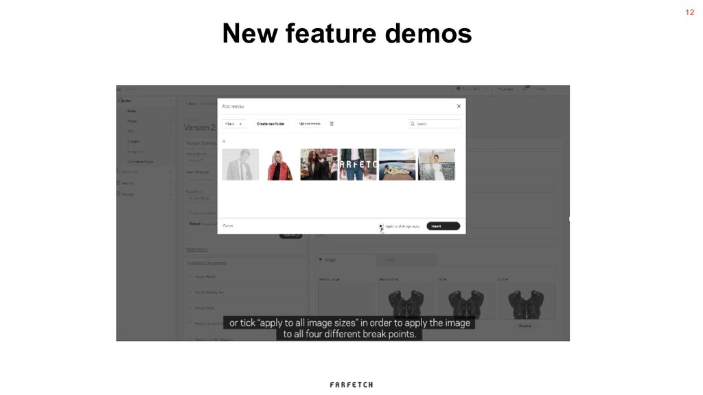 12 New feature demos