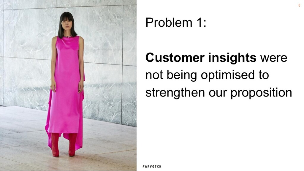 5 Problem 1: Customer insights were not being o...