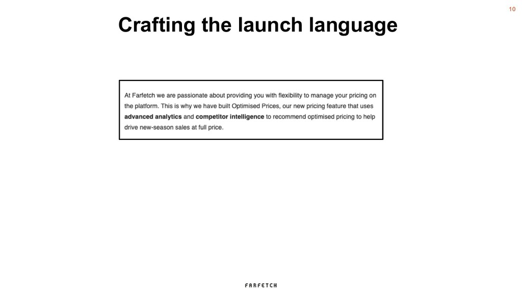 10 Crafting the launch language