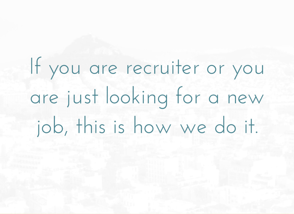 If you are recruiter or you are just looking fo...