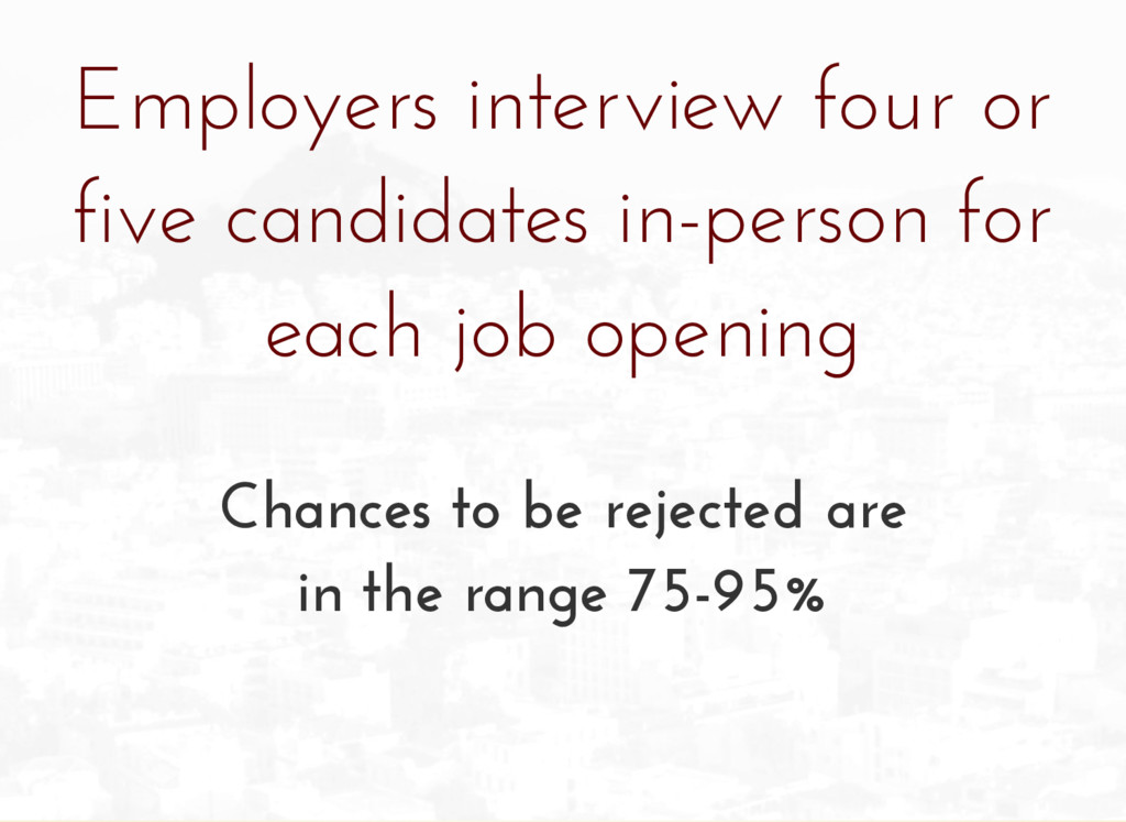 Employers interview four or five candidates in-...