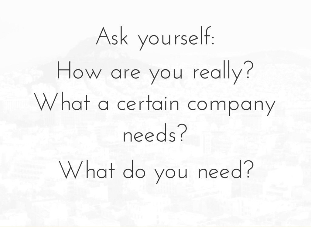 Ask yourself: How are you really? What a certai...